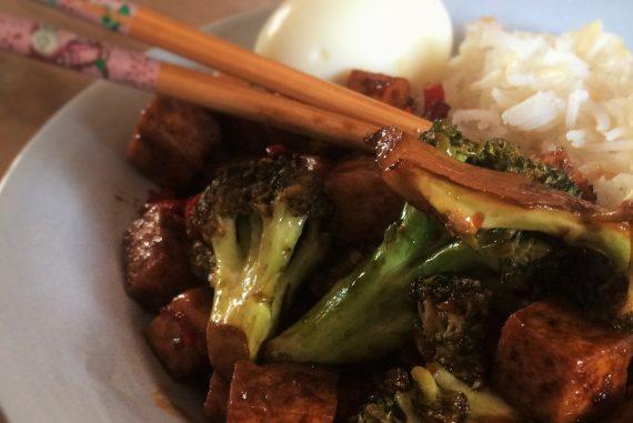 Sticky tofu recipe